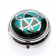 Small Enamel Pillbox: Celtic knot - Timeless Irish Treasures