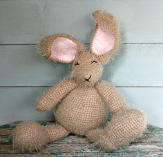 #Stuffed #animal #Crochet #amigurumi #bunny #rabbit #soft #toy by crochetyknitsnbits #Christmas #gifts #baby #kids #collectors