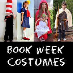 Book Week Costume Ideas: Includes Cat in the Hat, Harry Potter, The Hobbit, Peter Pan, The Very Hungry Caterpillar and more! Book Characters Dress Up, Character Dress Up, Book Character Day, Book Character Costumes, Storybook Characters, Character Ideas, Book Costumes, World Book Day Costumes, Teacher Costumes