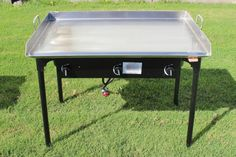 NEW CONCORD Stainless Steel 36 x 22 Flat Top Grill w/ Triple Burner Stand Stove #ad