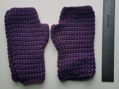 Handmade Purple Fingerless Gloves