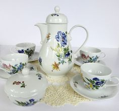 Vintage Kahla Tea set Teapot and Teacups by SucresDaintyDish, $45.00
