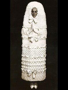 Cocoon wedding dress