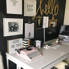 @heidiswapp  · this pink We R Memory Keepers new Typecast typewriter is making itself right at home  I pretty much love it!  #purecuteness #oldschool