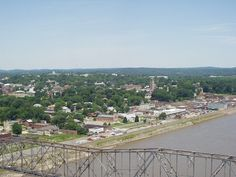 The Old Bridge with Cape Girardeau in the background by Cape Girardeau Convention and Visitors Bureau, via Flickr