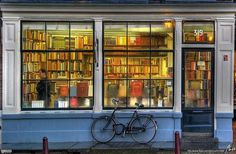 Library in Amsterdam, Holland