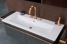 El cobre está de moda!  Más en nuestro blog #villeroyboch #villeroyboches #cobre #colores #baño #bathroom #tendencias