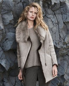 Image of Toscana shearling sheepskin coat