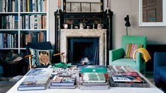 Cozy, quirky, very British interiors — an abundance of printed wallpapers, flowers in pots, funny old things and lots of books — are precisely what draw aristocrats and royals, the Duchess of Cambridge among them, to the services of the decorator Ben Pentreath. Here, his own home.