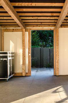 Designer Gartenhaus mit Schiebetüre mit Outdoor-Küche