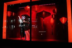 Harrods Chinese New Year windows at Knightsbridge, London visual merchandising