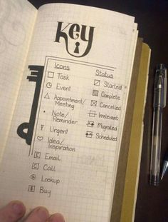 Bullet journaling has been called the perfect analog system for our digital age. - Bullet journaling has been called the perfect analog system for our digital age. Bullet Journal Kawaii, Key Bullet Journal, My Journal, Journal Pages, Bullet Journal Beginning, Journal Notebook, Journal Inspiration, Journal Ideas, Bullet Journal Layout Ideas