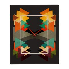 Viviana Gonzalez Textures Abstract 16 Rectangular Clock | DENY Designs Home Accessories