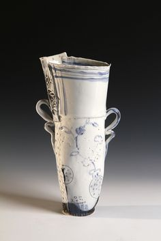 dish cloth vase by JosieJurczenia, via Flickr