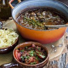 Mediterraan stoofvlees met pesto