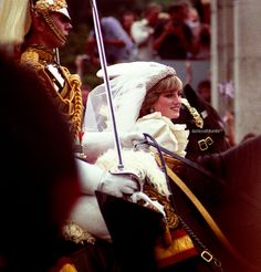 July Lady Diana Spencer married Prince Charles at St. Paul's Cathedral - now the Prince and Princess of Wales. Charles And Diana Wedding, Princess Diana Wedding, Prince Charles And Diana, Princess Of Wales, Princess Zelda, Royal Wedding Gowns, Royal Weddings, Lady Diana Spencer, Princesa Diana