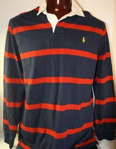 Ralph Lauren Polo Mens Rugby Shirt XL Long Sleeve Pony