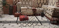 Beni ouarain Carpet is the home of handmade imported carpets and rug from Morocco. See all the carpets, area rug, pillows & nomad treasures that we carry Rugs On Carpet, Carpets, Handmade Rugs, Morocco, Area Rugs, Pillows, Wood, Stuff To Buy, Vintage