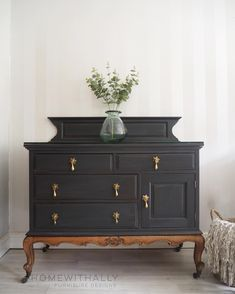 How To Easy Beautiful Fabric Roses Pocketful Of Posies In 2020 Refurbished Furniture Painted Furniture French Sideboard
