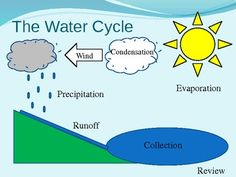Water Cycle Diagram | Coloring, Earth space and Nature