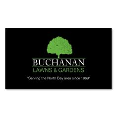 Lawn Care and Gardening Business Card. Make your own business card with this…