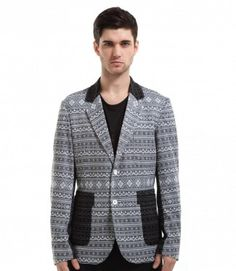 CONTRAST KNIT BLAZER  BY SHADES OF GREY BY MICAH COHEN  $218.00