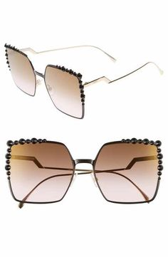 7beafe3eddc44 Fendi 60mm Gradient Square Cat Eye Sunglasses