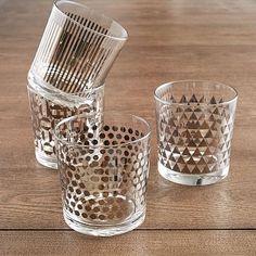 Metallic Print Glassware Set  http://rstyle.me/n/b2tptpdpe