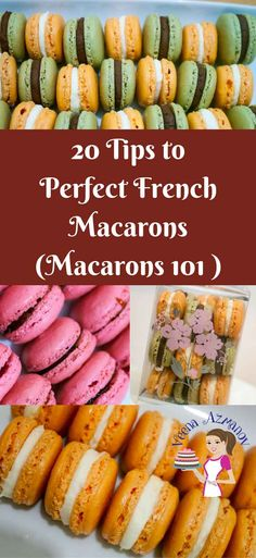 In this 20 tips to perfect French macarons you will find all the little things that you probably took for granted about making French Macarons. They can be intimidating but not difficult. Find out what's keeping you from succeeding, so you can make them perfect every single time. via @Veenaazmanov 20 Tips to making the perfect macaons, Macaron Tips, Tips for Macarons, Macaron baking Tips, How to make Perfect Macarons, Easiest Macarons Recipe