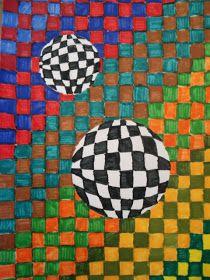 a faithful attempt: Op Art: 3-D Spheres