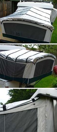Solar Reflective  panels for a pop up camper - Shade the bunks in the summer.  Keep heat from escaping in the winter...  DIY Project?