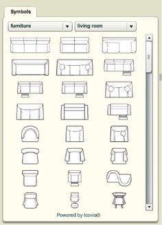 Furniture Floor Plan Vector