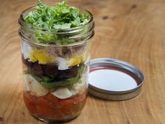 Bonnie Stern Nicoise salad in a jar, no bake cookies Tuna Nicoise Salad, Salad In A Jar, No Bake Cookies, Summer Recipes, Cucumber, Cravings, Picnic, Salads, Clean Eating