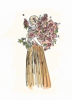 Rose Bouquet: Women Of The Garden Collection Art Print by Danie Berger - X-Small Buy Roses, Rose Bouquet, Easy Diy, Diy Projects, Art Prints, Simple, Creative, Illustrations, Color