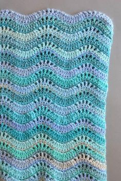 Inchworm Crochet Baby Blanket