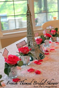 Paris bridal shower this will be great for my lil sister someday :-)