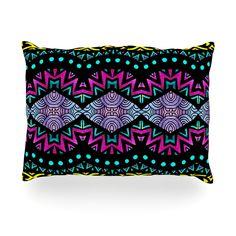 """Pom Graphic Design """"Tribal Dominance"""" Oblong Pillow"""