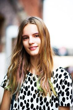 2013 trend colorful hair style how to ?#hair #beauty