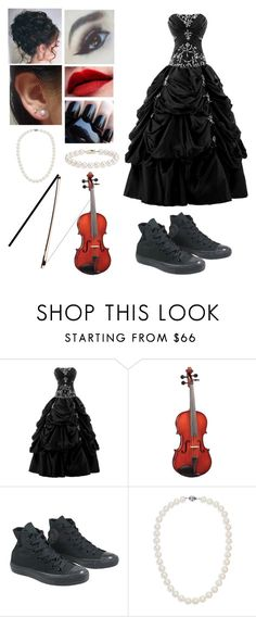 """""""Concert: Playing the viola"""" by foxykitty ❤ liked on Polyvore featuring Converse and Blue Nile"""