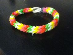 Picture of How To Make A Hexafish Rubber band Bracelet (with A Fork)