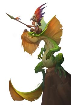 Dragon Knight by Tooth Wu on ArtStation Creature Concept Art, Creature Design, Character Concept, Character Art, Wie Zeichnet Man Manga, Dragon Knight, Character Design References, Character Design Inspiration, Cartoon Styles
