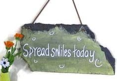 WALL HANGING SIGN Wall hanging sign handpainted by EuropeanRetro, $35.00
