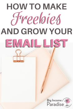 Learn how to create Opt-in Freebies that will grow your email list fast. You can create amazing freebies with Canva, Actually, you can easily create them in minutes! Check out this video tutorial on how to create freebies in Canva and grow your email list. #BigIncomeParadise #EmailList #GrowYourEmailList #CreateFreebies #OptInFreebies