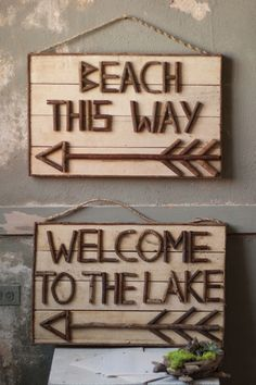 Welcome to the Lake signpost  $49.00