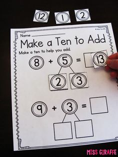 a 10 to Add Amazing math activities for so many math concepts!Amazing math activities for so many math concepts! Math For Kids, Fun Math, Math Resources, Math Activities, Mental Math Strategies, Eureka Math, Singapore Math, Math Tutor, Math Education