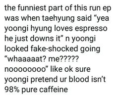 ah yoongi and his caffeine needs
