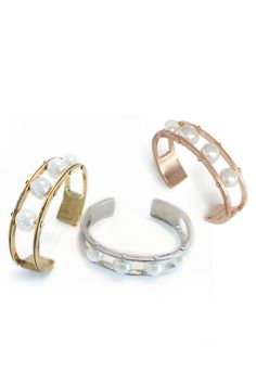 This pearl cuff is so on trend this season in jewelry.