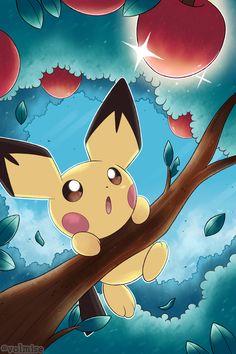 Pichu Pikachu Raichu, Gold Pokemon, Pokemon Alola, Pokemon Eeveelutions, Pokemon People, Cute Pikachu, Pokemon Fan Art, Pikachu Pokemon Go, Fanart Pokemon