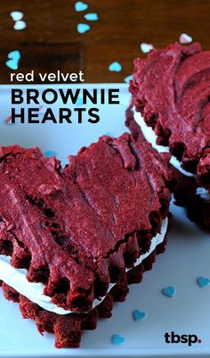 Turn Red Velvet Cake Mix into brownies to make these Valentine Day treats. These brownies are ready in 35 minutes and make for a perfect Valentine's dessert to make for yourself or give as gifts!