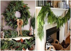 DIY Christmas garlands from evergreen plants - fresh accents in the home